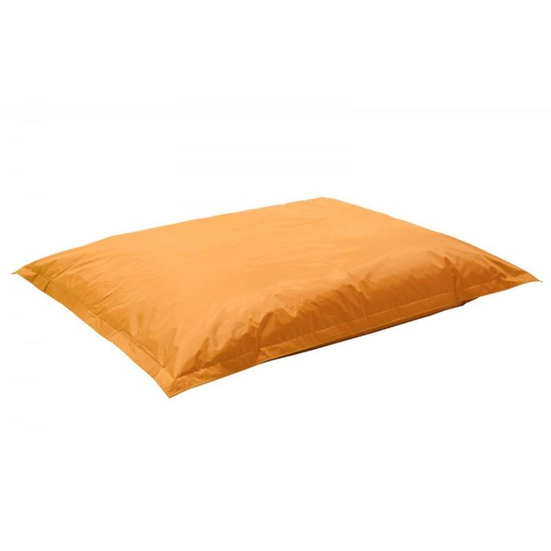 """Πουφ μαξιλάρι """"PIGRO"""" υφασμάτινο σε χρώμα πορτοκαλί 175x135x25"""