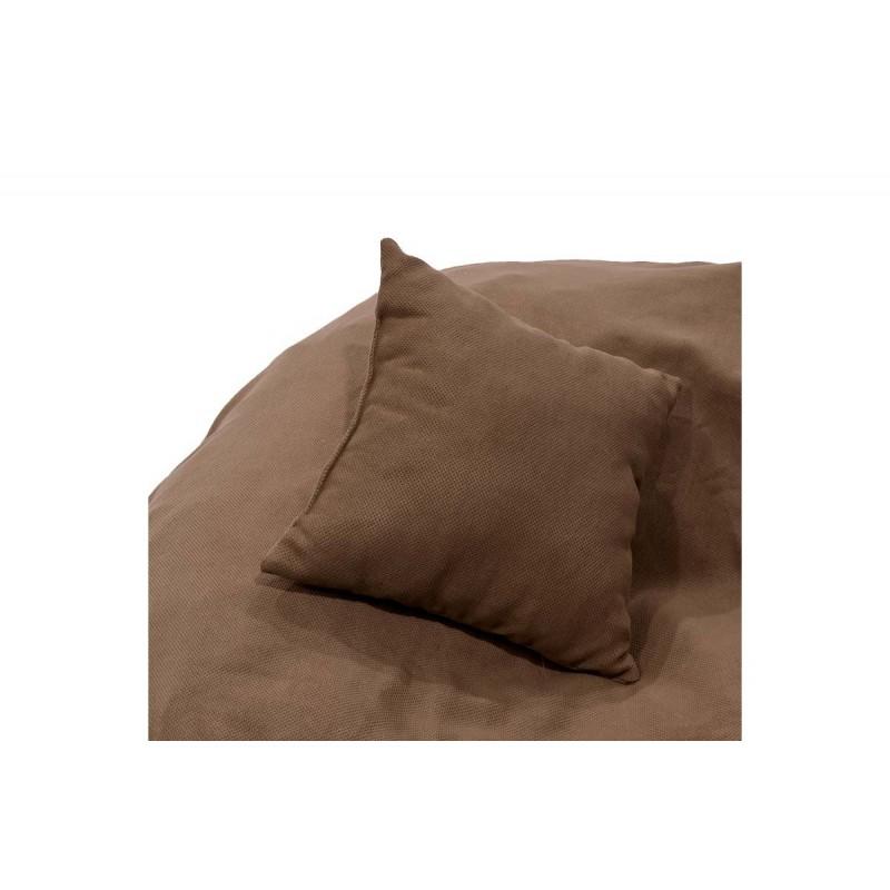 """Πουφ """"PUKO"""" υφασμάτινο σε χρώμα καφέ 95x95x70"""
