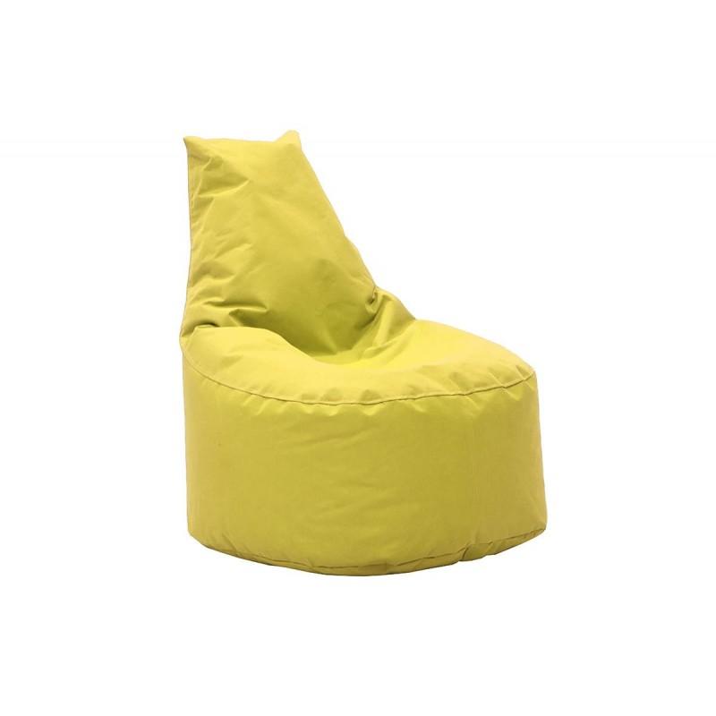 """Πουφ πολυθρόνα """"NORM"""" υφασμάτινο σε χρώμα κίτρινο 65x55x75"""