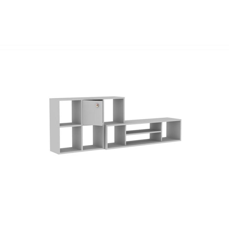 """Σύνθεση σαλονιού """"MOREEN"""" σε χρώμα λευκό 180x30x62,5"""