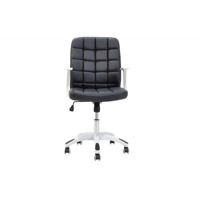 """Πολυθρόνα εργασίας """"ARIEL"""" από τεχνόδερμα σε χρώμα μαύρο 60x58x96.5/106.5"""