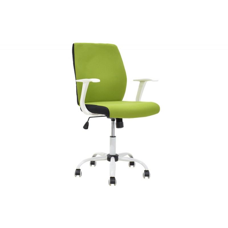 """Πολυθρόνα εργασίας """"MEMORY"""" με ύφασμα mesh σε χρώμα πράσινο-λευκό 60x61x95/105"""