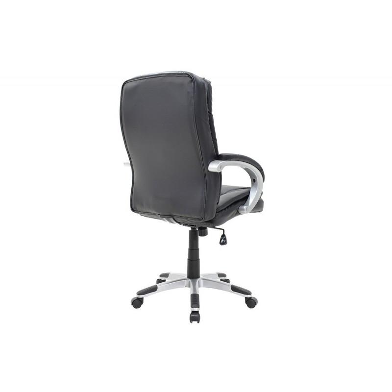 """Πολυθρόνα διευθυντή """"MELANI"""" από τεχνόδερμα σε χρώμα μαύρο 66x65x108/118"""