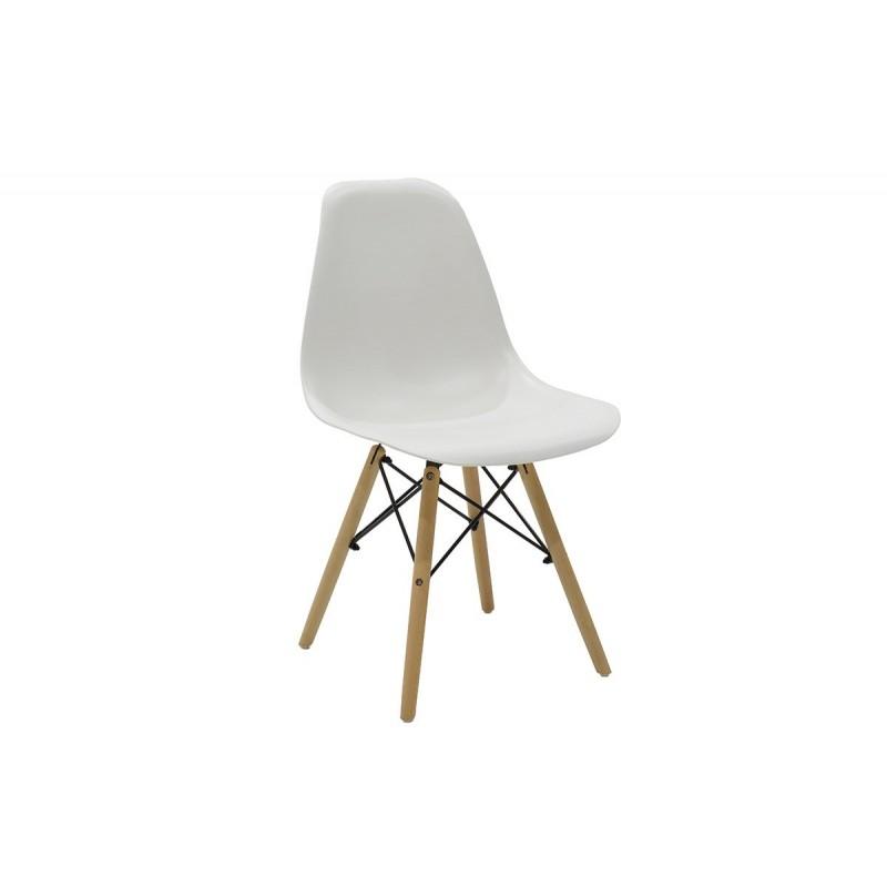 """Καρέκλα """"JULITA"""" pp σε χρώμα λευκό 52.5x46.50x82.5"""