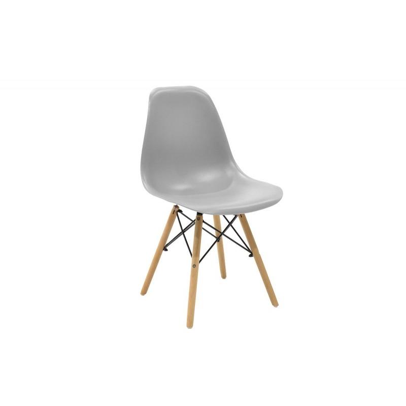 """Καρέκλα """"JULITA"""" pp σε χρώμα γκρι 52.5x46.50x82.5"""