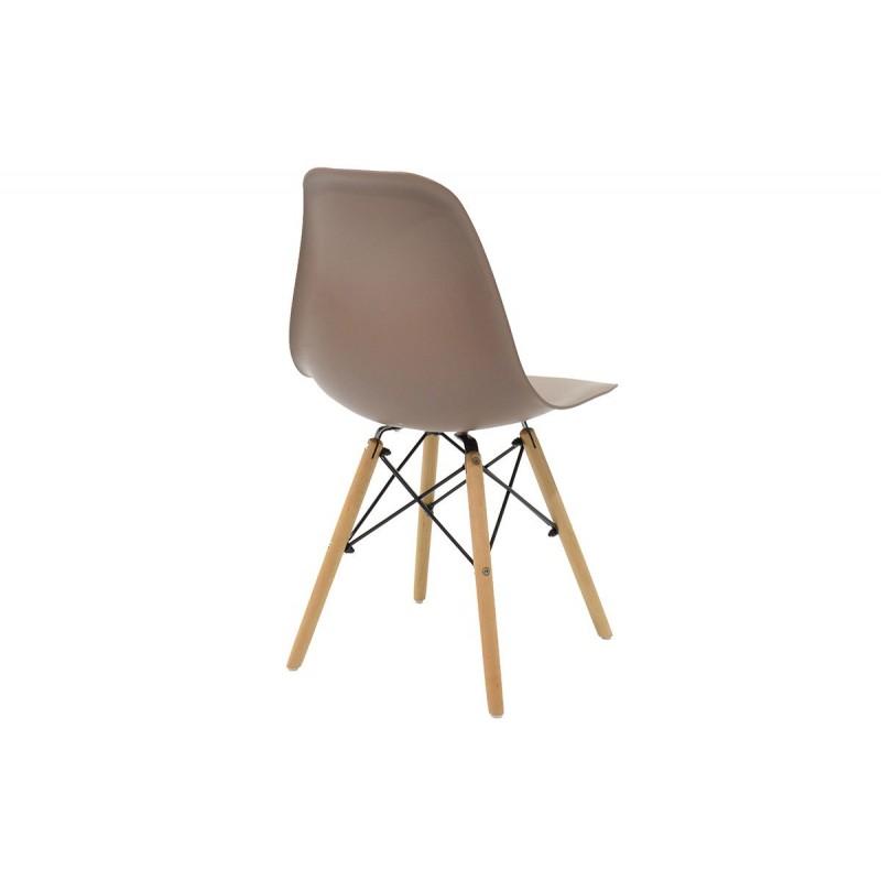 """Καρέκλα """"JULITA"""" pp σε χρώμα μόκα 52.5x46.50x82.5"""