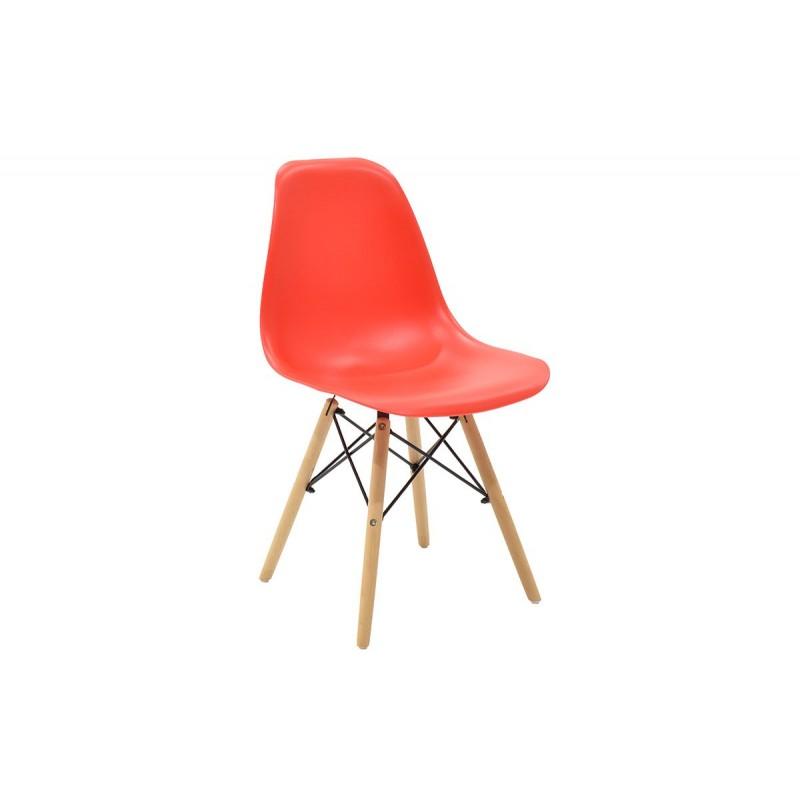 """Καρέκλα """"JULITA"""" pp σε χρώμα κόκκινο 52.5x46.50x82.5"""