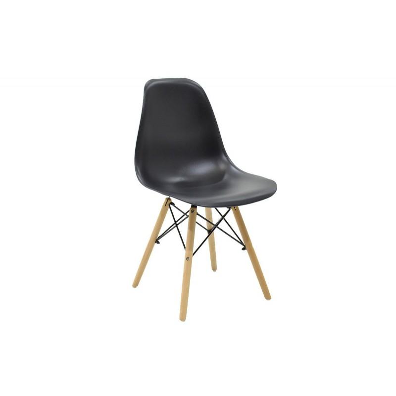 """Καρέκλα """"JULITA"""" pp σε χρώμα μαύρο 52.5x46.50x82.5"""