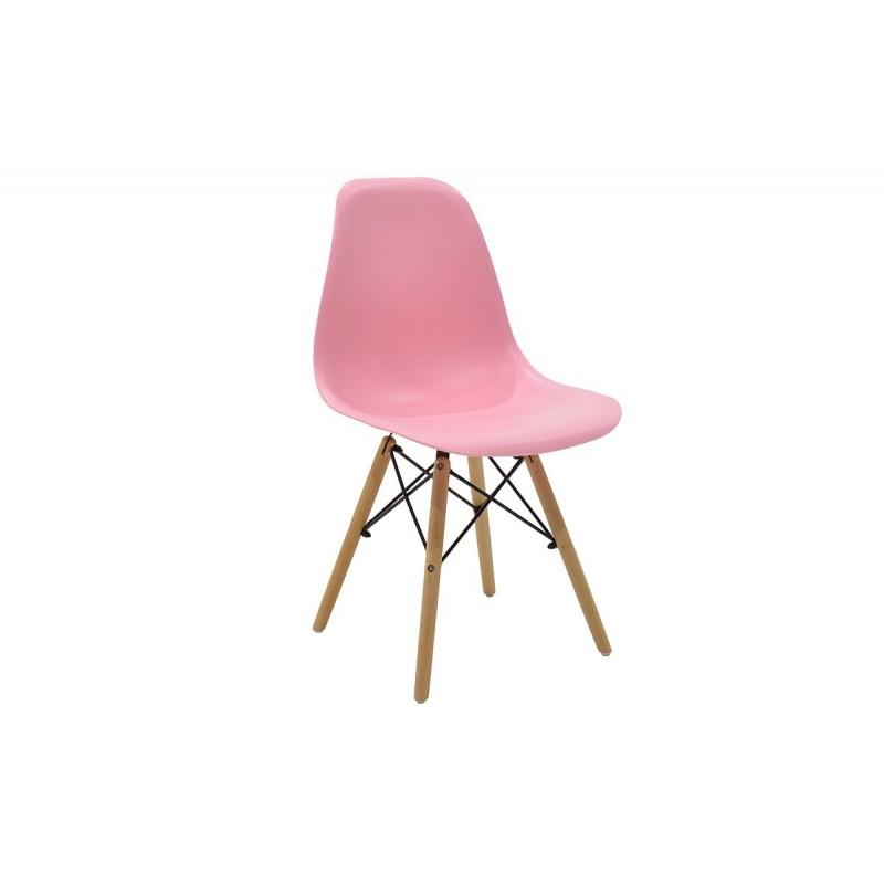 """Καρέκλα """"JULITA"""" pp σε χρώμα ροζ 52.5x46.50x82.5"""