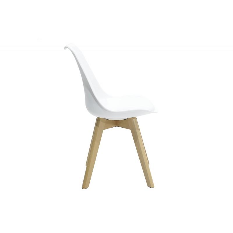 """Καρέκλα """"GASTON"""" πολυπροπυλενίου-pu σε χρώμα λευκό 48x56x84"""