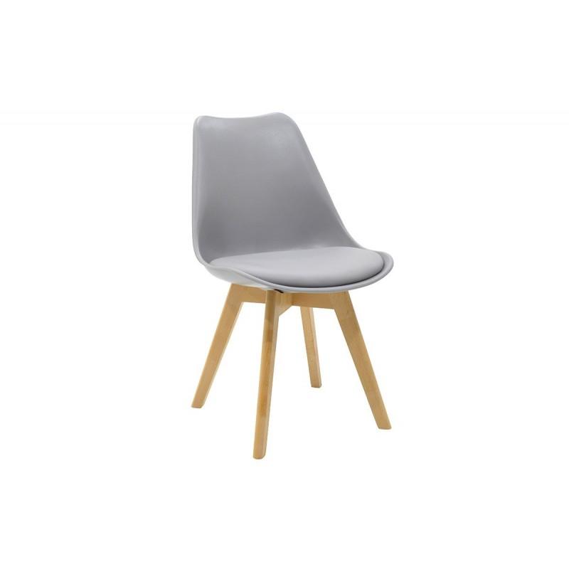 """Καρέκλα """"GASTON"""" από pp-pu σε χρώμα γκρι 48x56x84"""