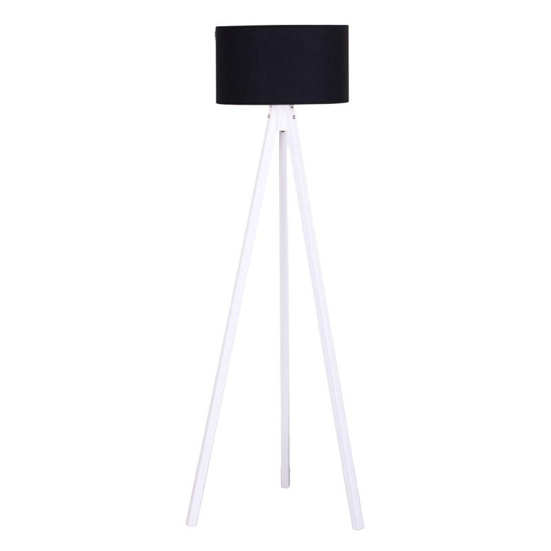 """Φωτιστικό δαπέδου """"BIBI"""" ξύλινο με καπέλο σε φουξιά χρώμα 40x40x145"""