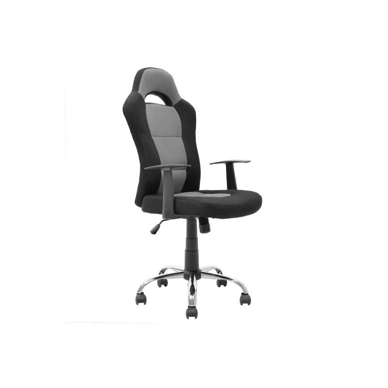 """Καρέκλα γραφείου """"BUCKET-SIMBA"""" σε χρώμα μαύρο-γκρι 65x57x113"""