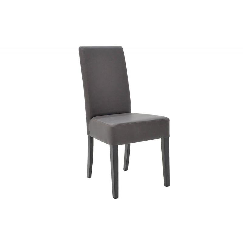 """Καρέκλα """"DITTA"""" μασίφ ξύλο από τεχνόδερμα σε χρώμα σκούρο καφέ 44x46x97"""