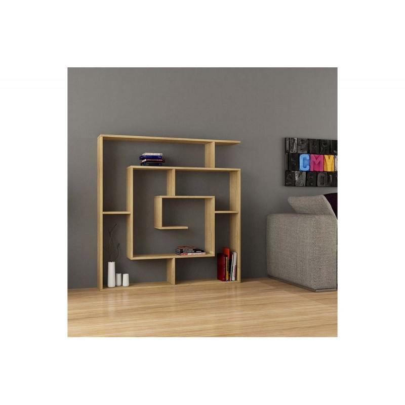 """Βιβλιοθήκη """"LABIRENT"""" σε χρώμα δρυς 125x22x129"""