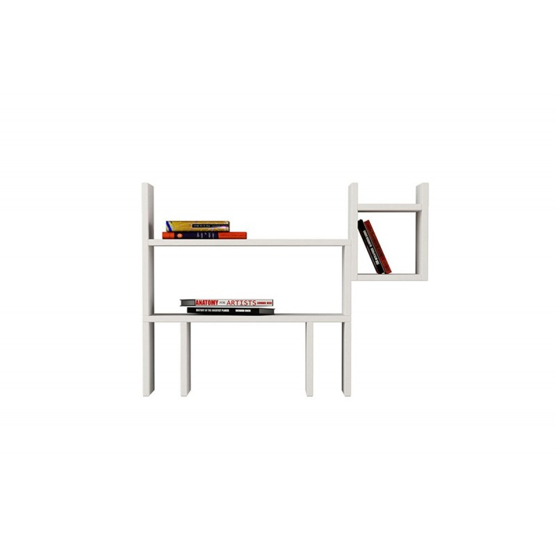 """Ραφιέρα τοίχου-βιβλιοθήκη """"DOGIE"""" σε χρώμα λευκό 82x22x61,5"""