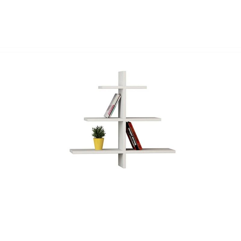 """Ραφιέρα τοίχου """"AGAC"""" σε χρώμα λευκό 65,5x22x70"""