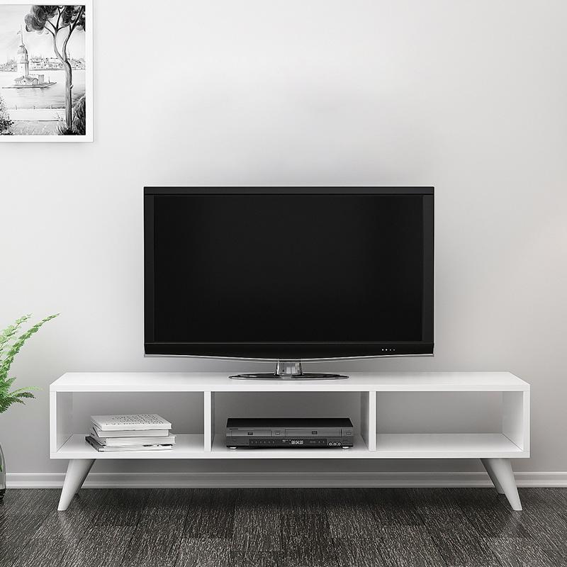 """Έπιπλο τηλεόρασης """"MANOLYA"""" σε χρώμα λευκό 120x35x40"""