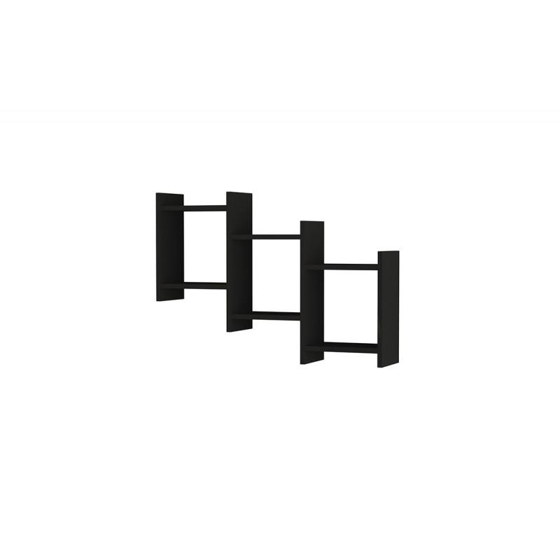 """Σύνθεση ραφιών """"BATHA"""" σε ανθρακί χρώμα 91x20x64"""