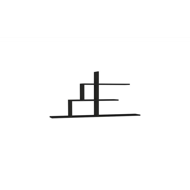 """Σύνθεση ραφιών """"CIZGI No 2"""" σε χρώμα ανθρακί 150x20x72,5"""