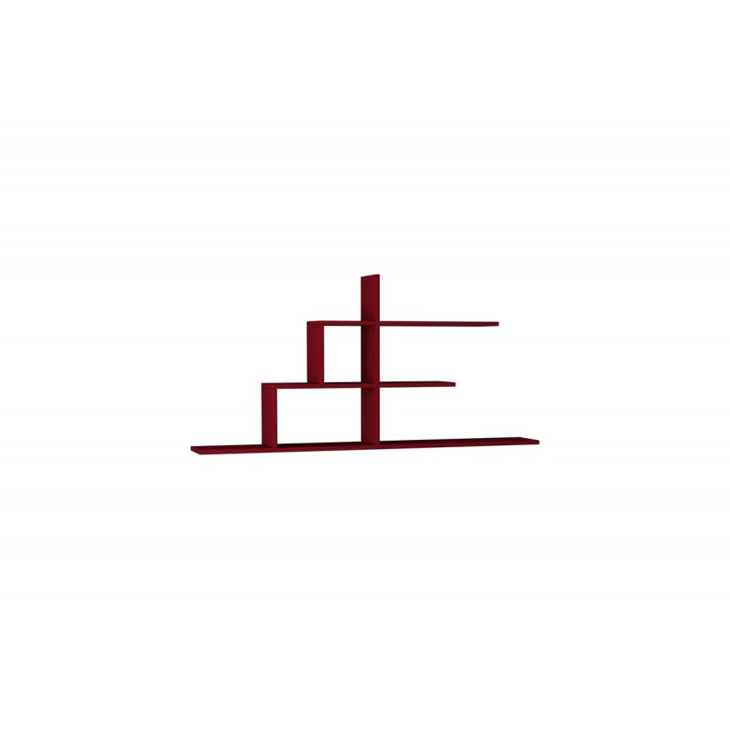 """Σύνθεση ραφιών """"CIZGI No 2"""" σε χρώμα σκούρο κόκκινο 150x20x72,5"""