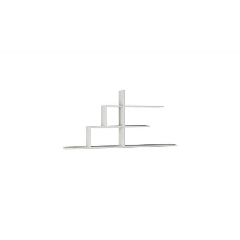 """Σύνθεση ραφιών """"CIZGI No 2"""" σε χρώμα λευκό 150x20x72,5"""