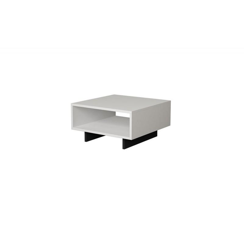 """Βοηθητικό τραπεζάκι """"HOLA"""" χρώμα antique λευκό-ανθρακί 60x60x32"""