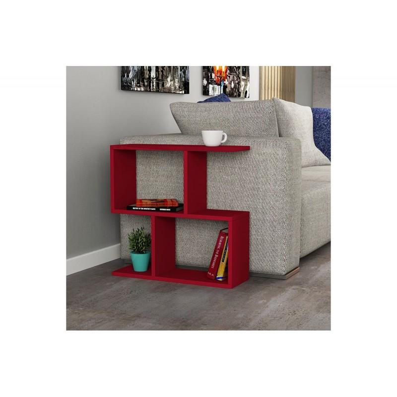 """Βοηθητικό τραπεζάκι """"HOMEMANIA"""" χρώμα σκούρο κόκκινο 60x20x60"""