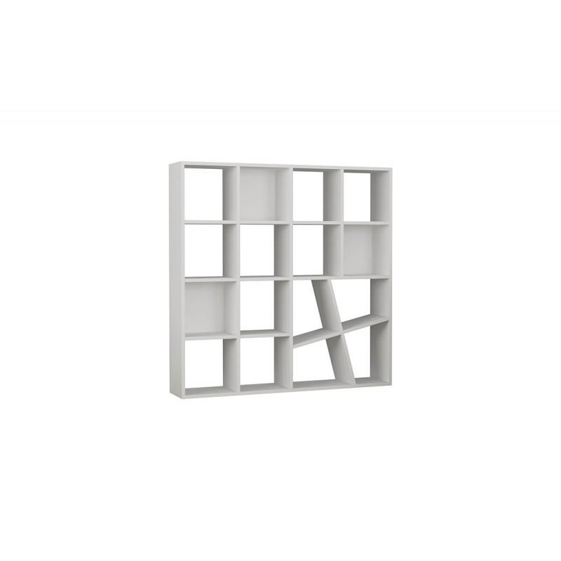 """Βιβλιοθήκη """"HONEY"""" σε χρώμα λευκό 125x24x125"""