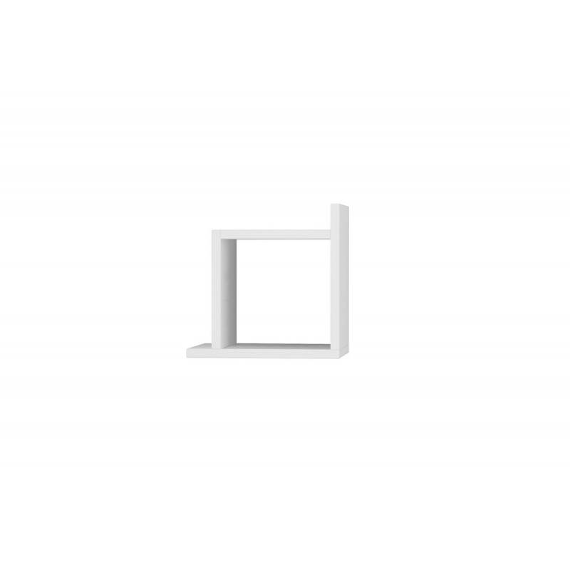 "Eπιτοίχιο ράφι ""KUTU"" σε χρώμα λευκό 30x22x30"