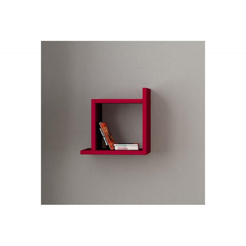 "Eπιτοίχιο ράφι ""KUTU"" σε χρώμα σκούρο κόκκινο 30x22x30"