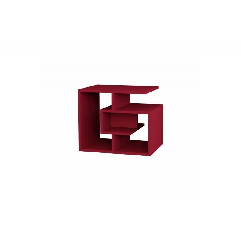 """Βοηθητικό τραπεζάκι """"LABIRENT"""" χρώμα σκούρο κόκκινο 54x40x45"""