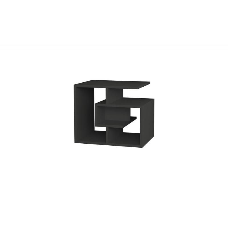 """Βοηθητικό τραπεζάκι """"LABIRENT"""" χρώμα ανθρακί 54x40x45"""