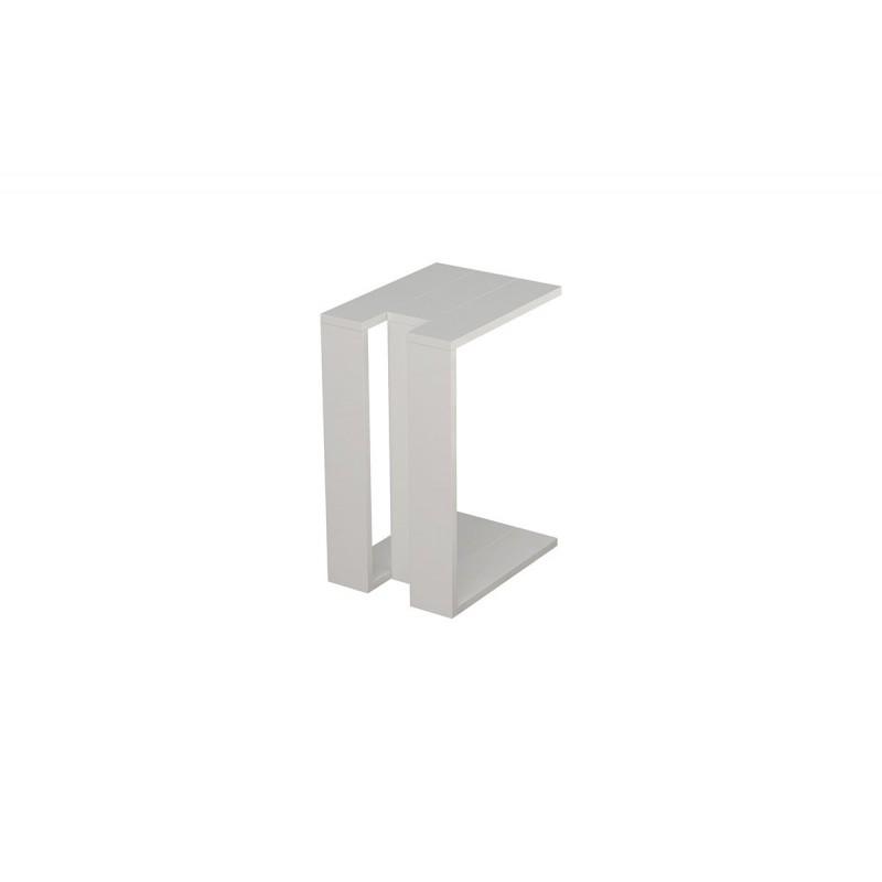 """Βοηθητικό τραπεζάκι """"MUJU"""" σε χρώμα λευκό 40x30x57"""
