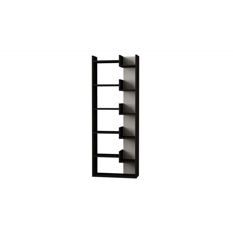"""Βιβλιοθήκη """"OPPA"""" σε χρώμα ανθρακί - λευκό 61x22x162"""