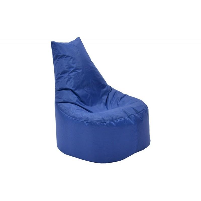"""Πουφ πολυθρόνα """"NORM PRO"""" υφασμάτινο σε χρώμα μπλε 70x60x75"""