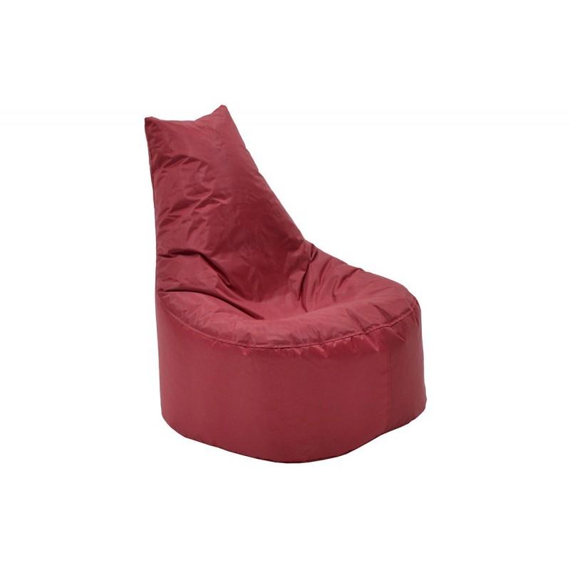 """Πουφ πολυθρόνα """"NORM PRO"""" υφασμάτινο σε χρώμα κόκκινο 70x60x75"""