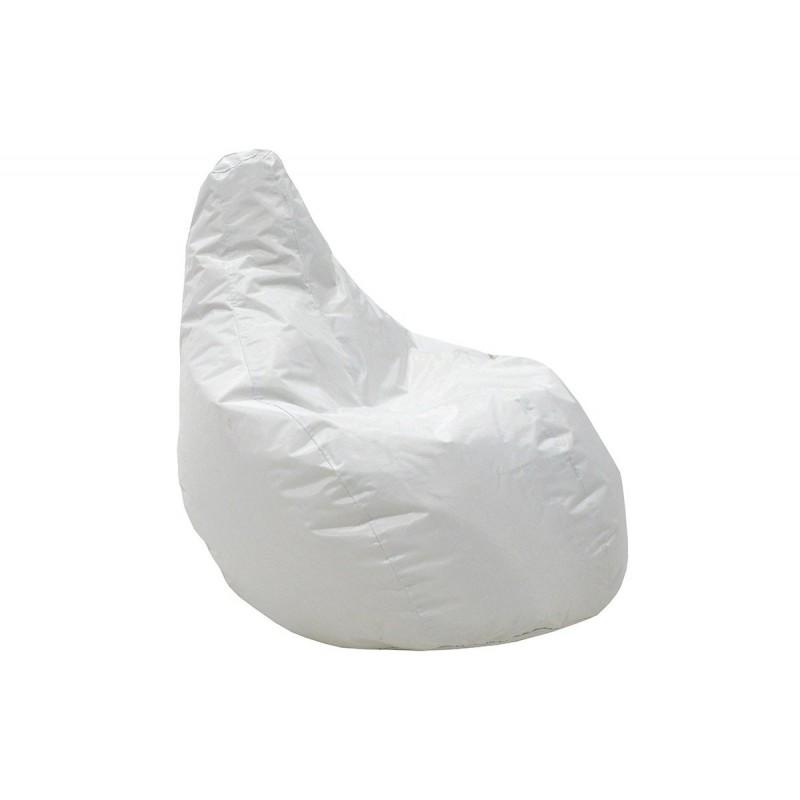 """Πουφ πολυθρόνα """"ECO"""" υφασμάτινο σε χρώμα λευκό 70x70x90"""