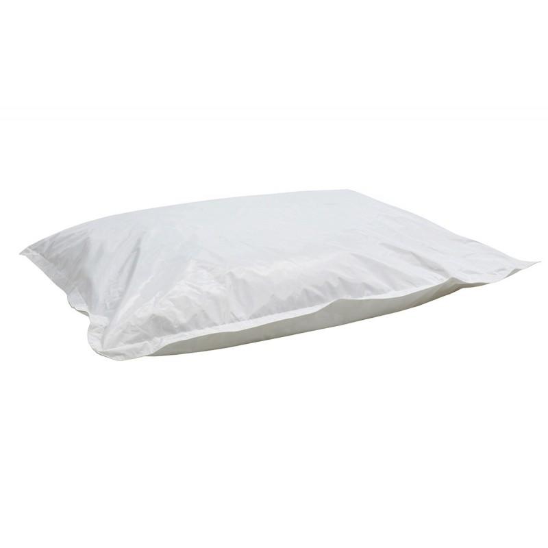 """Πουφ μαξιλάρι """"PIGRO"""" υφασμάτινο σε χρώμα λευκό 175x135x25"""