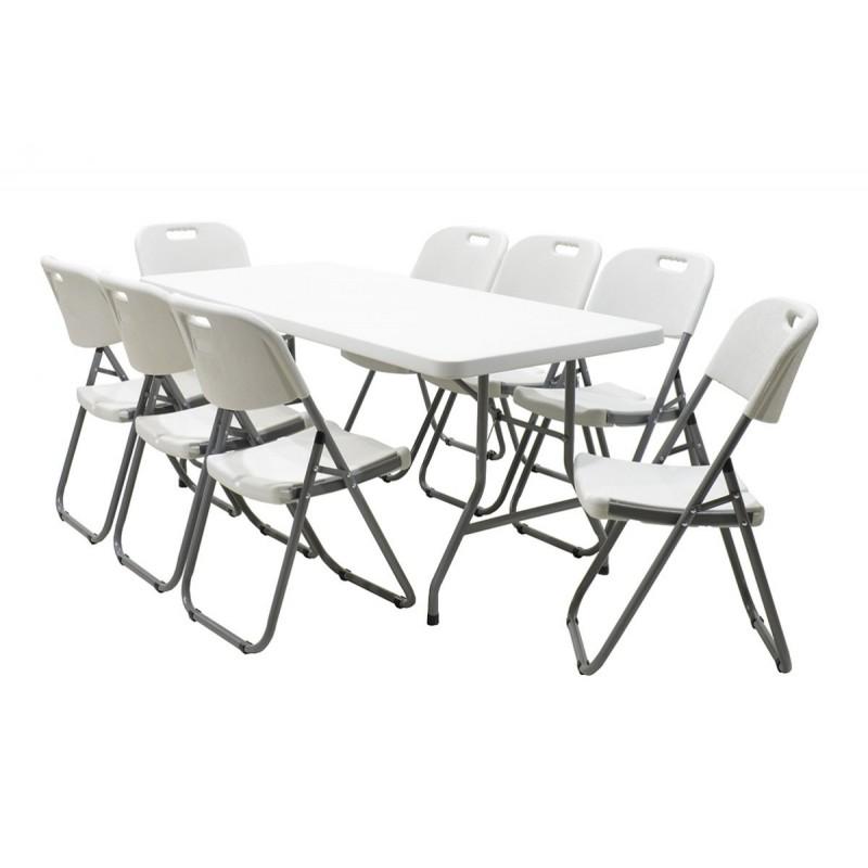 """Τραπέζι catering-συνεδρίου """"APRILIA"""" σε λευκό χρώμα 183x76x74"""