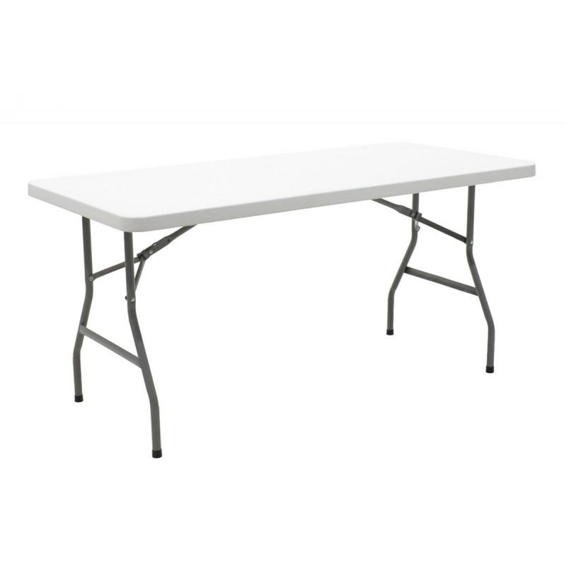 """Τραπέζι catering-συνεδρίου """"APRILIA"""" σε λευκό χρώμα 152x76x74"""
