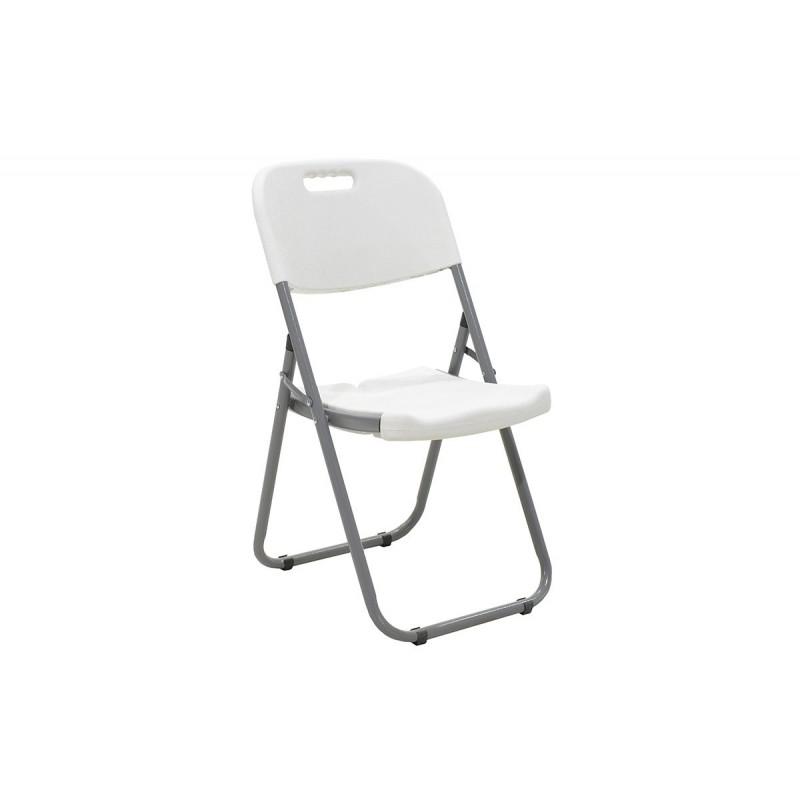 """Καρέκλα """"EDISON"""" πτυσσόμενη πολυπροπυλενίου σε χρώμα λευκό 45x50x88"""