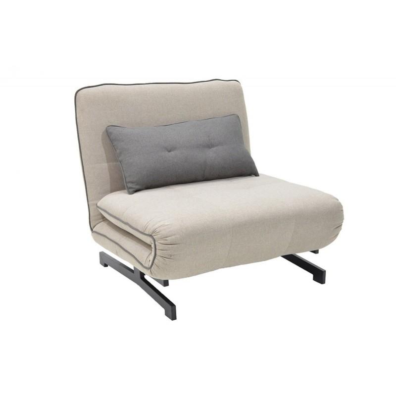 """Πολυθρόνα-κρεβάτι """"ZORO"""" με ύφασμα σε χρώμα μπεζ 90x78x86"""