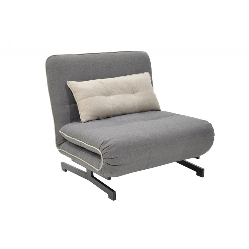 """Πολυθρόνα-κρεβάτι """"ZORO"""" με ύφασμα σε χρώμα γκρι 90x78x86"""