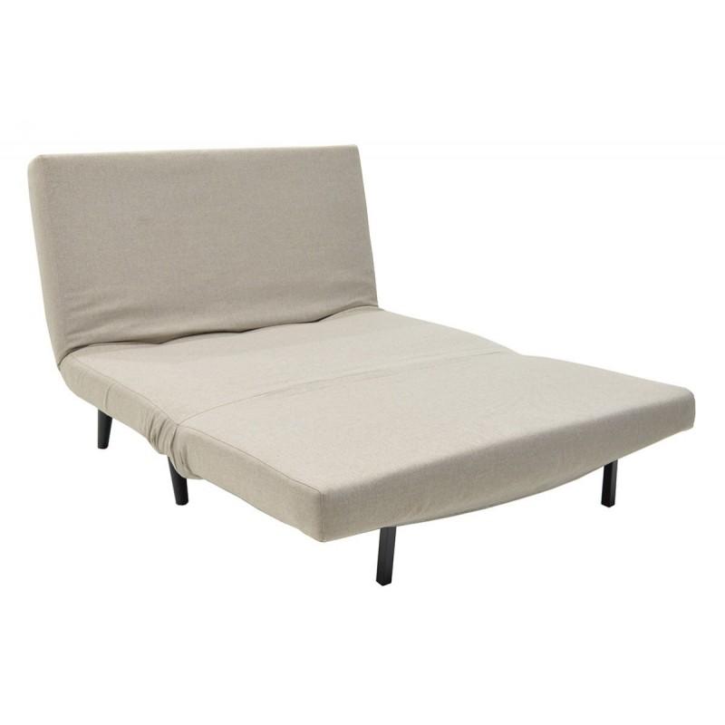 """Πολυθρόνα-κρεβάτι """"ALEXIS"""" από ύφασμα σε χρώμα μπεζ 120x89x88"""