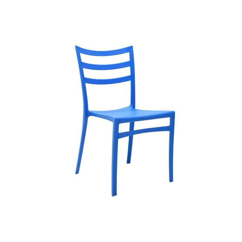 """Καρέκλα """"ROZA"""" πολυπροπυλένιο σε χρώμα μπλε 52x45x86"""