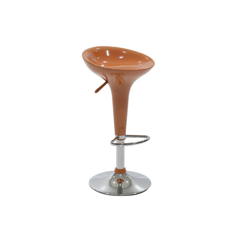 """Σκαμπώ μπαρ """"FELICE"""" μεταλλικό με ABS σε χρώμα πορτοκαλί 39x44x60/81"""