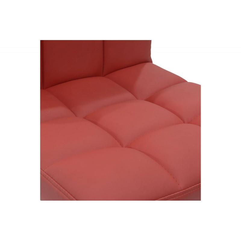 """Σκαμπώ μπαρ """"REMINA"""" μεταλλικό από pu σε χρώμα κόκκινο 48x45x95/116"""