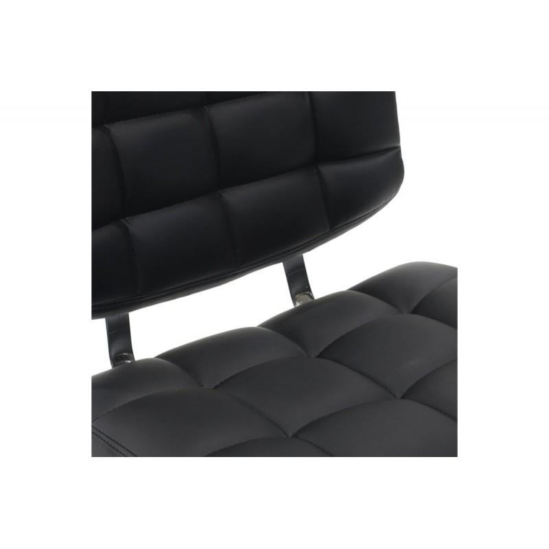 """Σκαμπώ μπαρ """"ADAMO"""" μεταλλικό με PU σε χρώμα μαύρο 48x50x64/85"""