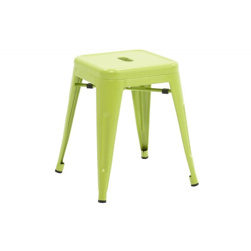"""Σκαμπώ βοηθητικό """"UTOPIA"""" μεταλλικό σε χρώμα πράσινο 40x40x45"""